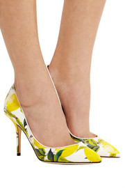 Dolce & Gabbana Printed textured-leather pumps
