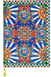 Dolce & Gabbana Carretto printed twill notebook