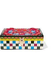 Carretto painted carved wood jewelry box