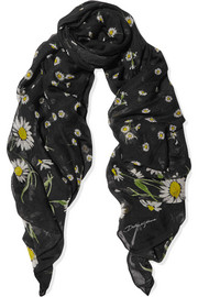 Dolce & Gabbana Printed cotton and silk-blend scarf