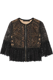 Cotton-blend lace jacket