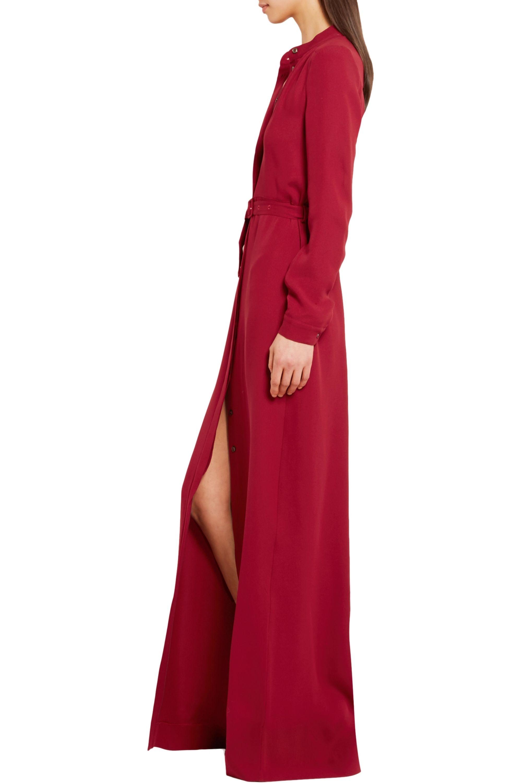 Vanessa Seward Bahia belted silk-crepe maxi dress