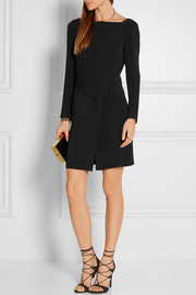 Maiyet Draped stretch-crepe mini dress