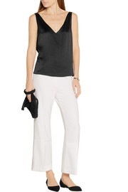 Maiyet Open-back textured-silk top