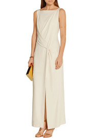 Maiyet Draped stretch-crepe maxi dress