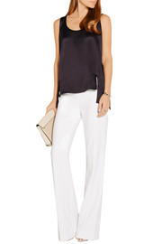 Maiyet Asymmetric textured-silk top