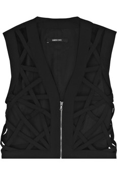 Kimberly Ovitz|Virgil cutout jersey cropped vest|NET-A-PORTER.COM
