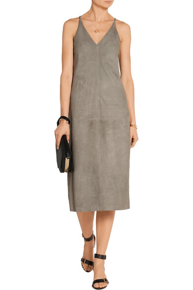 3fd0af673ba Theory | Suede midi dress | NET-A-PORTER.COM