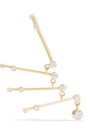 Sophie Bille Brahe Lenon 18-karat gold diamond ear cuff