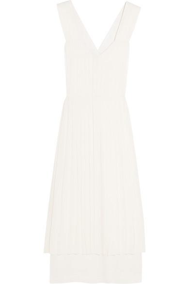 Edun. Pleated silk dress