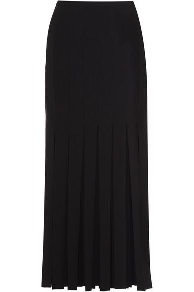 Tamara Mellon - Fringed Stretch-crepe Skirt - Black
