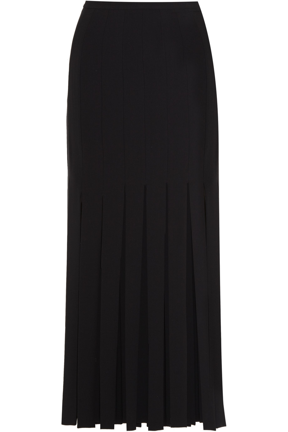 Tamara Mellon Fringed Stretch-Crepe Skirt, Black, Women's, Size: 4