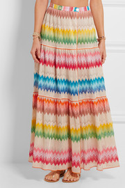 Missoni Crochet-knit wrap maxi skirt