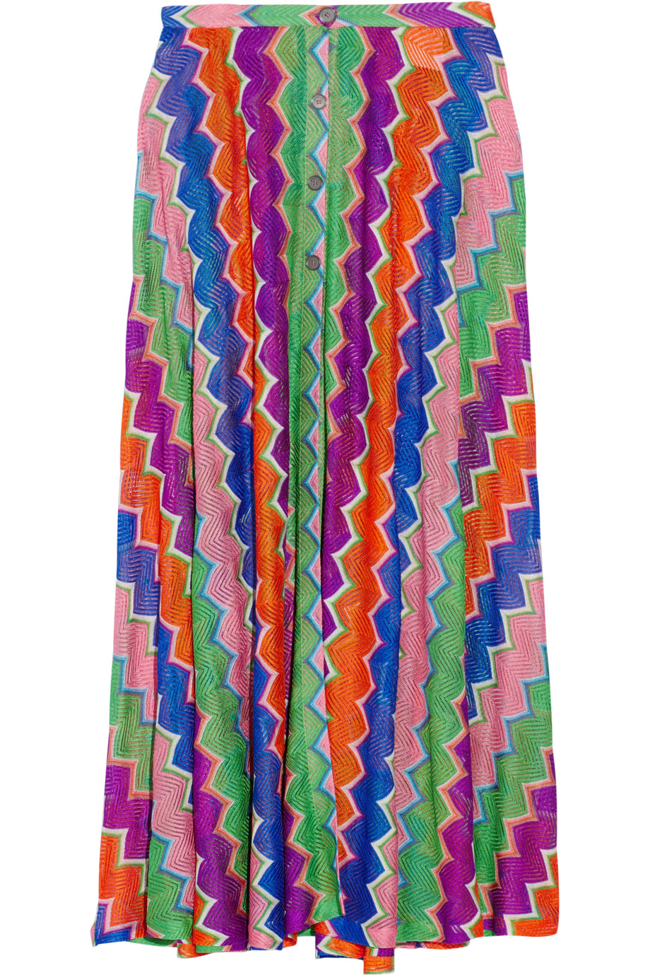 Missoni Mare Crochet-Knit Maxi Skirt, Dark Purple, Women's, Size: 46