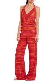 Missoni Metallic crochet-knit jumpsuit