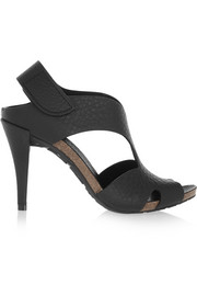 Yolanda textured-leather sandals