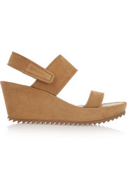 Francy suede wedge sandals