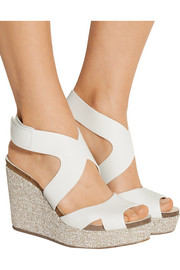 Pedro Garcia Marcia textured-leather wedge sandals