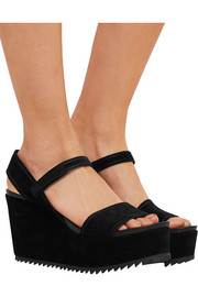 Pedro Garcia Dorothy suede wedge sandals