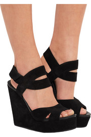 Pedro Garcia Teilor suede wedge sandals