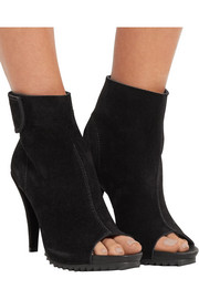 Yaris suede peep-toe ankle boots