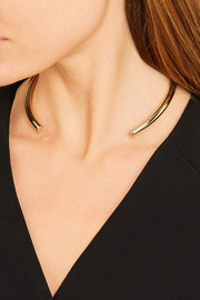 Stop It Right Now gold-plated choker