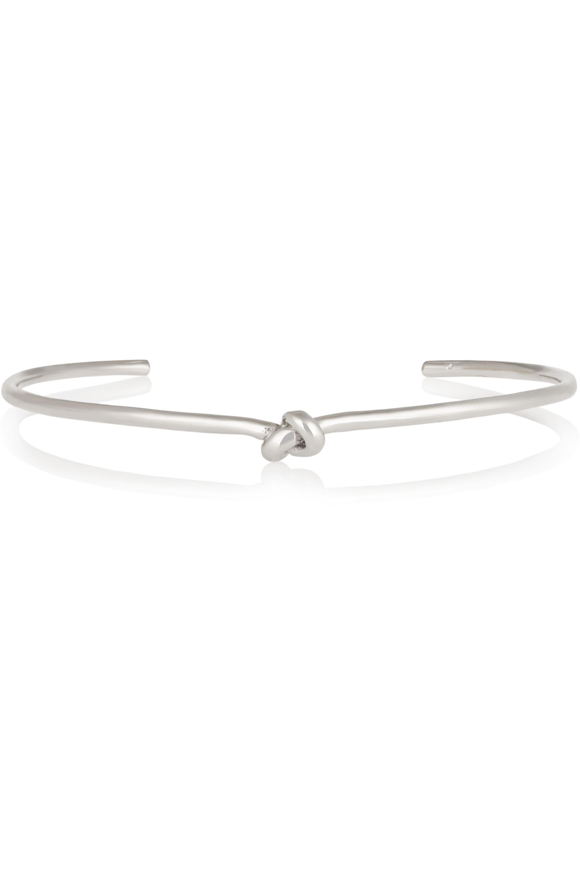 Jennifer Fisher Knot silver-plated choker