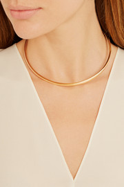 Square Reverse gold-plated choker