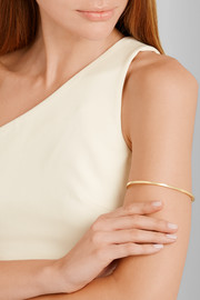 Small Square gold-plated arm cuff