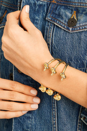Double Knot gold-plated cuff