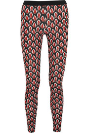 Helu printed stretch-jersey leggings