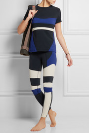 Pala color-block stretch-jersey top