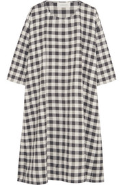 The Great The Boxy Blouse plaid cotton-blend mini dress