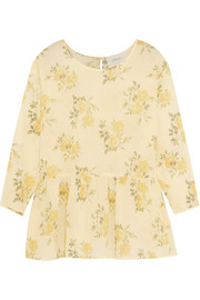 The Great The Wanderer floral-print cotton-gauze top