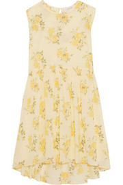 The Great The Sleeveless Sunday floral-print cotton-voile dress