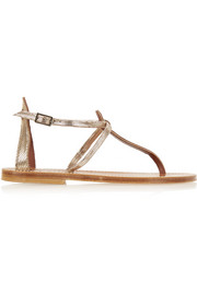 Buffon metallic suede sandals