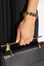 Eddie Borgo Small Rectangle Estate gold-plated crystal bracelet