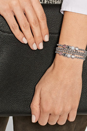 Eddie Borgo Double Wrap rhodium-plated multi-stone bracelet