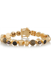 Eddie Borgo Collage gold-plated multi-stone bracelet