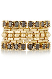 Eddie Borgo Dome Estate gold-plated crystal bracelet