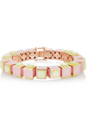 Mosaic Cube rose gold-plated bracelet