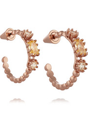 Eddie Borgo Estate rose gold-plated crystal hoop earrings
