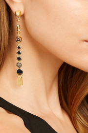 Eddie Borgo Gold-plated multi-stone earrings