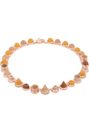 Collage Collar rose gold-plated multi-stone necklace