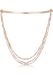 Eddie Borgo Rose gold-plated necklace