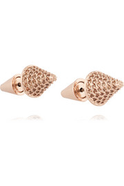 Eddie Borgo Rose gold-plated crystal earrings