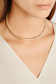 Cuboid Collar gold-plated choker