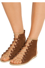 Mache lace-up suede sandals