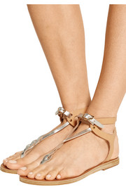 Ismene leather sandals