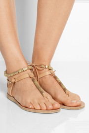 Chrysso beaded leather sandals